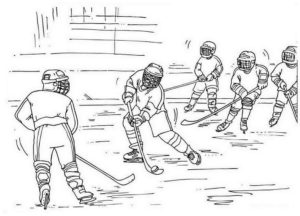 Хоккей картинки раскраски (55)