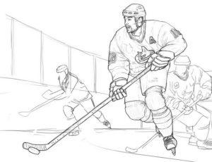 Хоккей картинки раскраски (56)