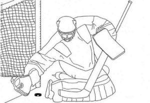Хоккей картинки раскраски (57)