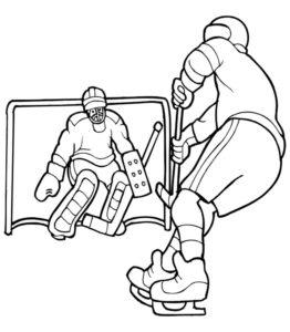 Хоккей картинки раскраски (58)