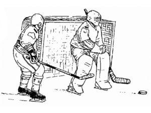 Хоккей картинки раскраски (59)
