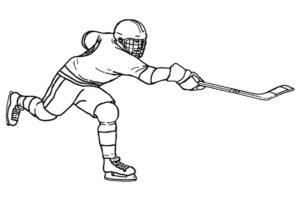 Хоккей картинки раскраски (6)