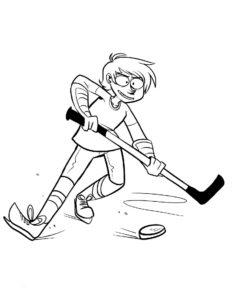 Хоккей картинки раскраски (60)