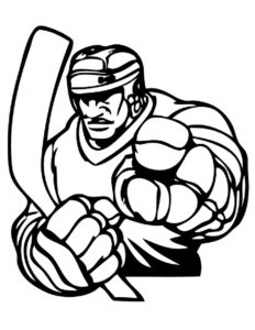 Хоккей картинки раскраски (61)