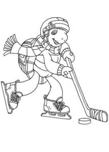 Хоккей картинки раскраски (62)
