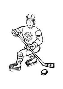 Хоккей картинки раскраски (63)