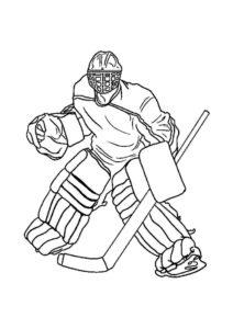 Хоккей картинки раскраски (64)