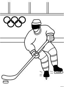 Хоккей картинки раскраски (66)