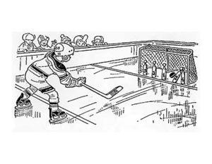 Хоккей картинки раскраски (68)