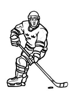 Хоккей картинки раскраски (69)