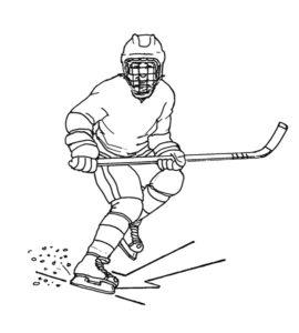 Хоккей картинки раскраски (7)