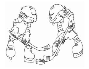 Хоккей картинки раскраски (71)