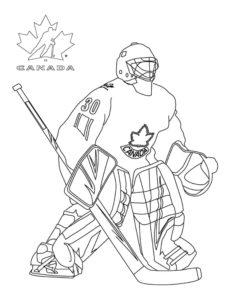 Хоккей картинки раскраски (8)