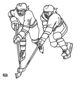Хоккей картинки раскраски (9)