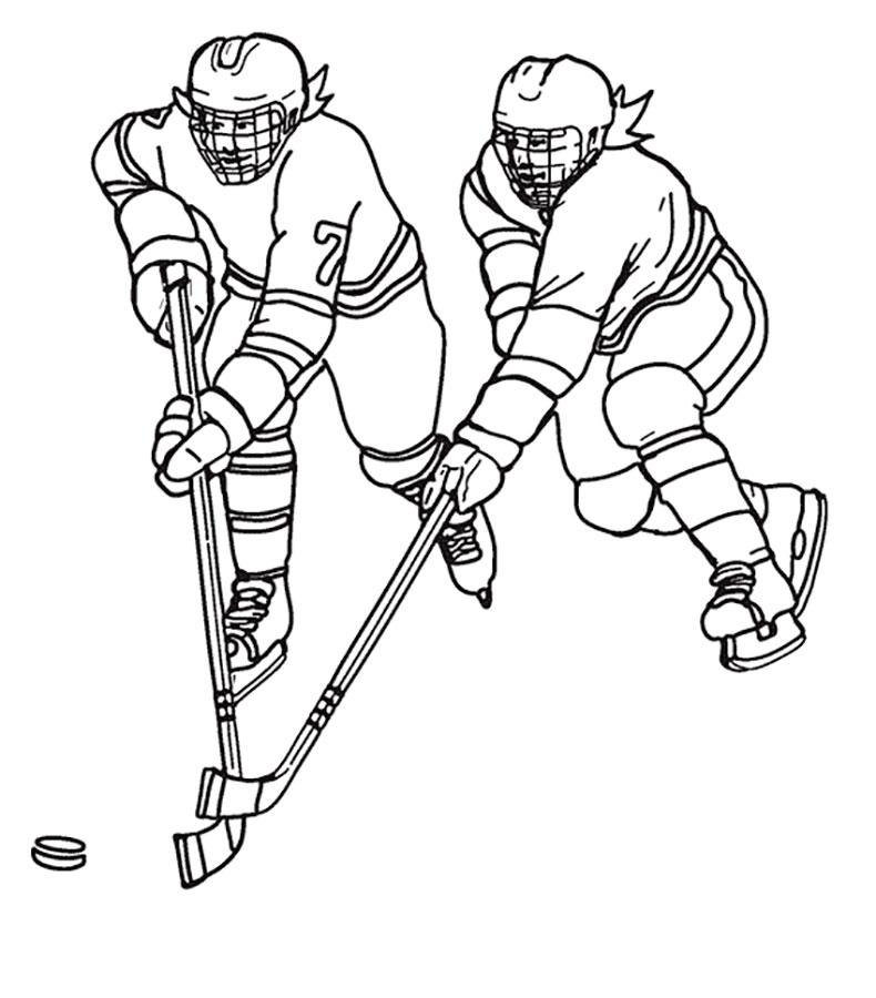 Картинки хоккеистов для детей раскраска
