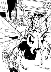 Человек муравей картинки раскраски (1)