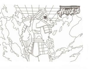 -ниндзя-картинки-раскраски-18-300x233 Черепашки ниндзя