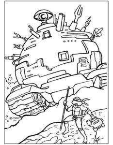 Черепашки ниндзя картинки раскраски (2)
