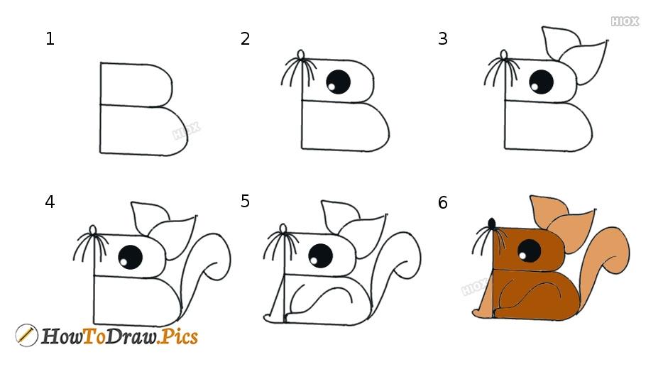 -нарисовать Как нарисовать белку
