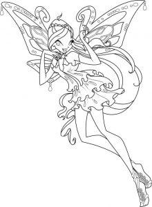 винкс гармоникс картинки раскраски крупные (5)