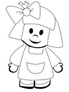 кукла картинки раскраски крупные (1)