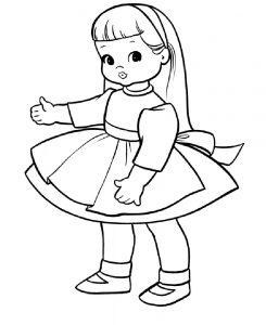 кукла картинки раскраски крупные (10)
