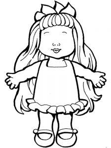 кукла картинки раскраски крупные (11)