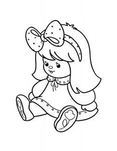 кукла картинки раскраски крупные (12)