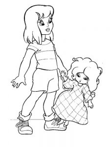 кукла картинки раскраски крупные (13)