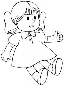 кукла картинки раскраски крупные (14)