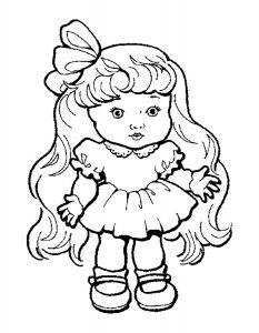 кукла картинки раскраски крупные (15)