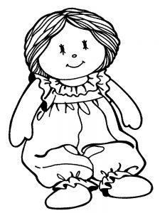 кукла картинки раскраски крупные (16)