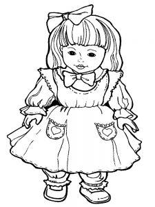 кукла картинки раскраски крупные (17)