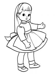 кукла картинки раскраски крупные (18)