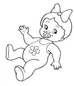 кукла картинки раскраски крупные (2)