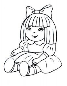 кукла картинки раскраски крупные (20)