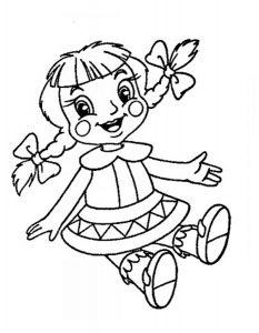 кукла картинки раскраски крупные (21)