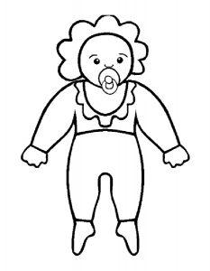 кукла картинки раскраски крупные (26)