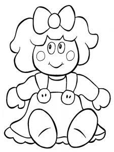 кукла картинки раскраски крупные (28)