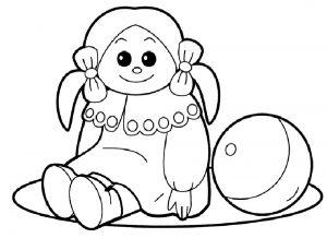 кукла картинки раскраски крупные (3)