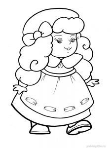 кукла картинки раскраски крупные (34)