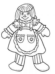 кукла картинки раскраски крупные (35)