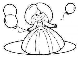 кукла картинки раскраски крупные (37)