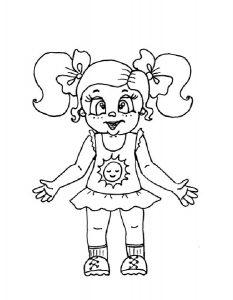 кукла картинки раскраски крупные (4)