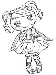 кукла картинки раскраски крупные (40)