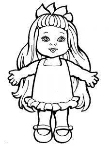 кукла картинки раскраски крупные (42)
