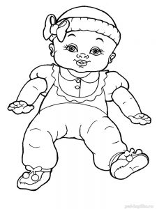 кукла картинки раскраски крупные (5)