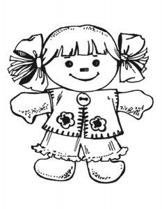 кукла картинки раскраски крупные (6)