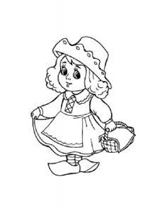 кукла картинки раскраски крупные (7)
