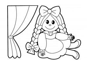 кукла картинки раскраски крупные (8)